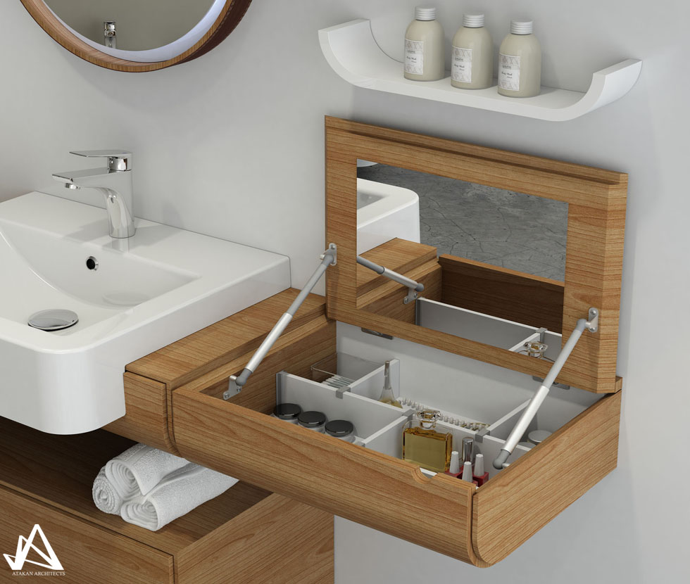 Atakan architects for Bathroom design visualizer